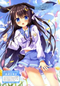 Rating: Questionable Score: 52 Tags: ame_to_yuki animal_ears bunny_ears cameltoe pantsu seifuku shimapan skirt_lift User: drop