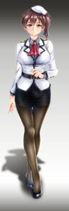 Rating: Safe Score: 18 Tags: kaga_(kancolle) kantai_collection pantyhose siki2046 uniform User: Mr_GT