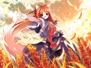 Rating: Safe Score: 29 Tags: animal_ears dress holo shino_(eefy) spice_and_wolf tail wallpaper User: bunnygirl