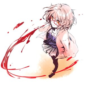Rating: Safe Score: 31 Tags: blood dlei kuriyama_mirai kyoukai_no_kanata pantyhose User: fireattack