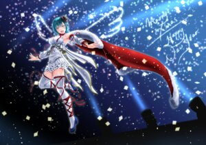 Rating: Safe Score: 24 Tags: christmas dress garter parsue thighhighs wings User: mash