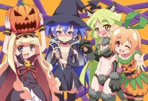 Rating: Questionable Score: 19 Tags: animal_ears genei_wo_kakeru_taiyou gonzaburou halloween hoshikawa_seira shirokane_ginka taiyou_akari tsukuyomi_luna User: Radioactive