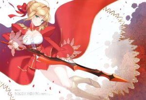 Rating: Questionable Score: 28 Tags: cleavage dress fate/grand_order masuishi_kinoto pantsu saber_extra see_through sword User: Radioactive