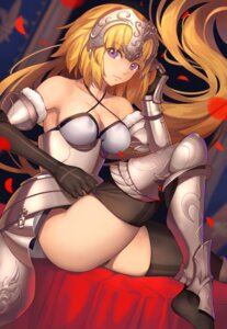 Rating: Safe Score: 46 Tags: armor cleavage fate/apocrypha fate/grand_order fate/stay_night jeanne_d'arc jeanne_d'arc_(fate) pantsu thighhighs tsuki_suigetsu undressing User: RyuZU