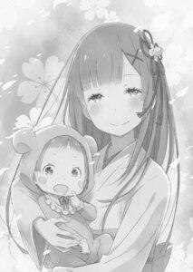 Rating: Safe Score: 35 Tags: gashin monochrome re_zero_kara_hajimeru_isekai_seikatsu rem_(re_zero) yukata User: h71337