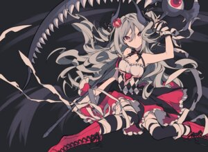 Rating: Safe Score: 56 Tags: bandages dress horns kanzaki_ranko mochizuki_kei the_idolm@ster the_idolm@ster_cinderella_girls thighhighs weapon User: Mr_GT