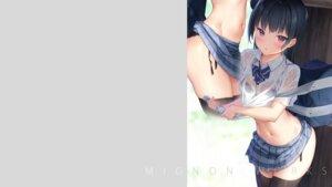 Rating: Questionable Score: 27 Tags: love_live!_sunshine!! mignon pantsu see_through seifuku shirt_lift skirt_lift string_panties thighhighs tsushima_yoshiko wallpaper wet_clothes User: BattlequeenYume