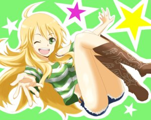 Rating: Safe Score: 19 Tags: hagi hoshii_miki the_idolm@ster wallpaper User: sakurapremier