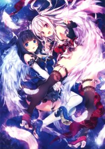 Rating: Safe Score: 163 Tags: cleavage dress garter heels riichu stockings thighhighs wings User: Twinsenzw