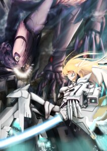 Rating: Safe Score: 10 Tags: armor gun iltusa mecha mecha_musume monster sword wings User: syuki144