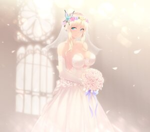 Rating: Safe Score: 87 Tags: boku_wa_tomodachi_ga_sukunai cait cleavage dress kashiwazaki_sena wedding_dress User: Mr_GT