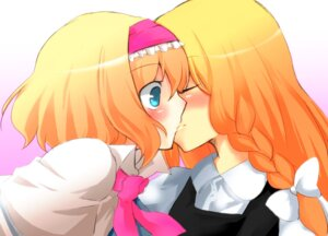 Rating: Safe Score: 9 Tags: alice_margatroid kirisame_marisa okannigeru touhou yuri User: Radioactive