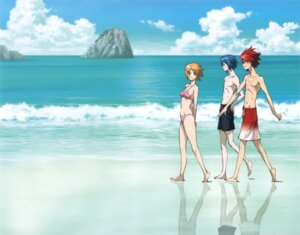 Rating: Safe Score: 10 Tags: agemaki_wako bikini itou_yoshiyuki shindou_sugata star_driver swimsuits tsunashi_takuto User: Aurelia