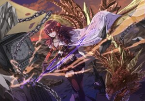 Rating: Safe Score: 18 Tags: armor cleavage monster neon_(hhs9444) sword thighhighs User: Mr_GT