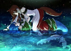 Rating: Safe Score: 27 Tags: animal_ears imaizumi_kagerou kogyoku-uru mermaid tail touhou wakasagihime User: Mr_GT