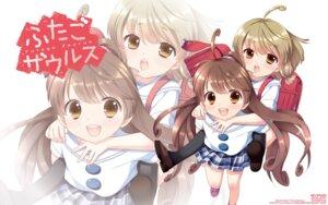 Rating: Safe Score: 10 Tags: ooshima_towa pantyhose seifuku wallpaper User: Korino