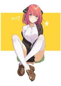 Rating: Safe Score: 98 Tags: 5-toubun_no_hanayome heels icarus_(artist) nakano_nino seifuku sweater thighhighs User: BattlequeenYume