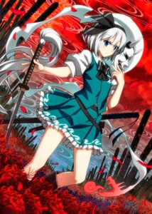 Rating: Safe Score: 28 Tags: konpaku_youmu sazanami_mio sword touhou User: Mr_GT