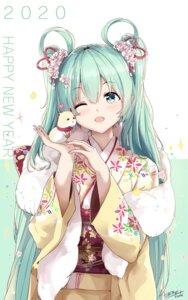 Rating: Safe Score: 36 Tags: hatsune_miku kimono kuroi_asahi vocaloid User: Mr_GT