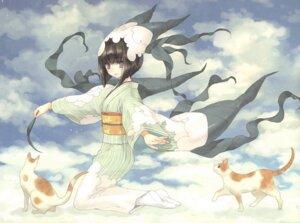 Rating: Safe Score: 25 Tags: kawaku kimono neko User: ming_tt