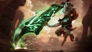 Rating: Questionable Score: 5 Tags: armor bandages league_of_legends sword tagme User: Radioactive