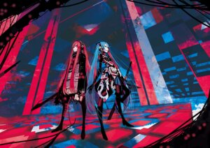 Rating: Safe Score: 40 Tags: hatsune_miku megurine_luka palow vocaloid User: Metalic