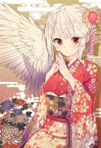 Rating: Safe Score: 43 Tags: abe_suke breast_hold kimono kishin_sagume touhou User: BattlequeenYume