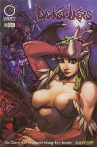 Rating: Questionable Score: 8 Tags: alan_wang anita armor bishamon capcom cleavage dark_stalkers donovan_baine erect_nipples leotard morrigan_aensland pantyhose udon_entertainment wings User: Radioactive