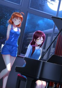 Rating: Safe Score: 33 Tags: love_live!_sunshine!! sakurauchi_riko swordsouls takami_chika User: SubaruSumeragi