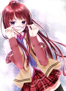 Rating: Safe Score: 49 Tags: megane ruruki seifuku thighhighs User: charunetra