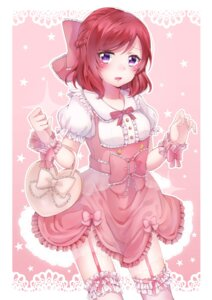 Rating: Safe Score: 31 Tags: dress fujisaki_hinako love_live! nishikino_maki see_through stockings thighhighs User: Mr_GT