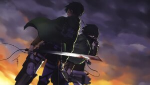 Rating: Safe Score: 23 Tags: levi mikasa_ackerman shingeki_no_kyojin sword tagme uniform wallpaper User: Radioactive