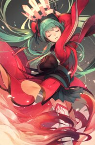 Rating: Safe Score: 32 Tags: hatsune_miku iwato1712 thighhighs vocaloid User: Mr_GT