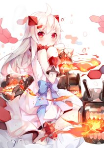 Rating: Safe Score: 55 Tags: horns kantai_collection mozhi northern_ocean_hime User: KazukiNanako