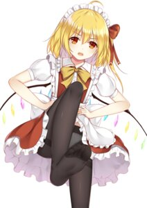 Rating: Questionable Score: 35 Tags: feet flan_(seeyouflan) flandre_scarlet pantsu pantyhose skirt_lift touhou wings User: Nepcoheart