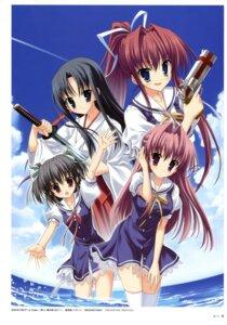 Rating: Safe Score: 13 Tags: arima_hisame clear gun kisaki_yuduru miko mitha seifuku sword thighhighs tsukimura_miki yukino_natsuki User: SubaruSumeragi