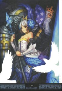 Rating: Safe Score: 15 Tags: armor cleavage dress gwendolyn odin_(odin_sphere) odin_sphere screening shirai_yasuo thighhighs User: majoria