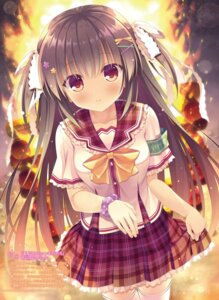 Rating: Safe Score: 50 Tags: seifuku skirt_lift takano_yuki thighhighs User: kiyoe