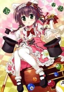 Rating: Safe Score: 45 Tags: animal_ears dress fujima_takuya heels nekomimi tail thighhighs User: drop