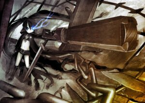 Rating: Safe Score: 9 Tags: black_rock_shooter black_rock_shooter_(character) gun naon sword vocaloid User: Radioactive