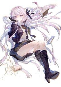 Rating: Safe Score: 25 Tags: dangan-ronpa heels kirigiri_kyouko pantsu rumoon seifuku skirt_lift User: BattlequeenYume
