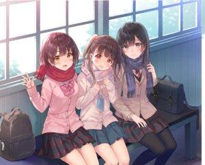 Rating: Safe Score: 66 Tags: fukahire_sanba pantyhose seifuku sweater User: Spidey