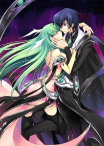 Rating: Questionable Score: 32 Tags: c.c. code_geass creayus lelouch_lamperouge rangetsu thighhighs User: yumichi-sama