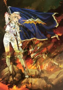 Rating: Safe Score: 22 Tags: ebata_risa macross macross_frontier sheryl_nome sword thighhighs torn_clothes uniform User: YamatoBomber
