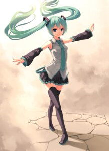 Rating: Safe Score: 36 Tags: hatsune_miku thighhighs vocaloid zengxianxin User: fairyren