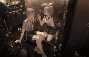 Rating: Safe Score: 19 Tags: kagamine_len kagamine_rin seifuku tagme vocaloid User: Mr_GT