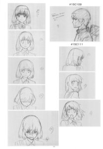 Rating: Safe Score: 4 Tags: kushieda_minori monochrome sketch takasu_ryuuji toradora! User: superogira