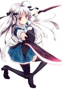 Rating: Safe Score: 30 Tags: absolute_duo heels seifuku tagme thighhighs weapon yurie_sigtuna User: marechal