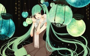 Rating: Safe Score: 14 Tags: hatsune_miku headphones moka pantyhose vocaloid wallpaper User: Share