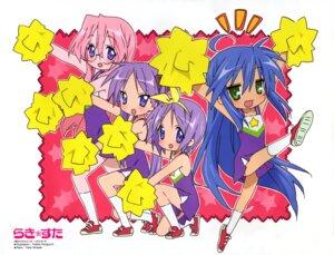 Rating: Safe Score: 7 Tags: cheerleader hiiragi_kagami hiiragi_tsukasa horiguchi_yukiko izumi_konata lucky_star takara_miyuki User: vita